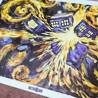 Doctor Who Poster And TARDIS Toy