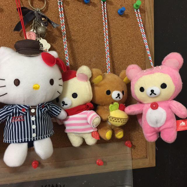 「搬家出清,只賣到4月底」拉拉熊系列&kitty吊飾小玩偶