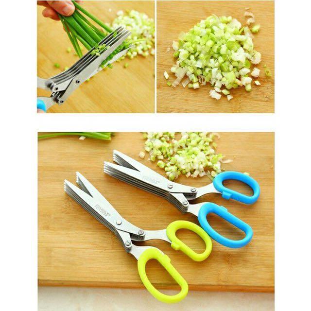 5 blades Herb scissors  multi-use