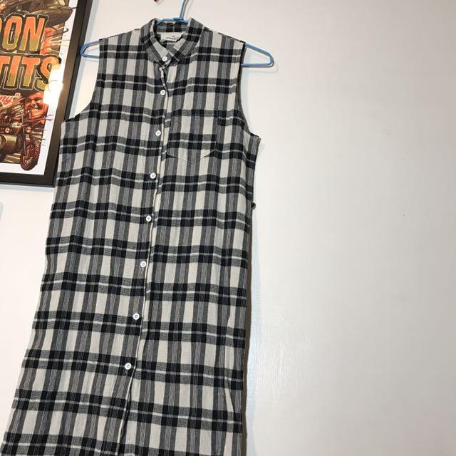 #兩百元襯衫 格紋連身襯衫