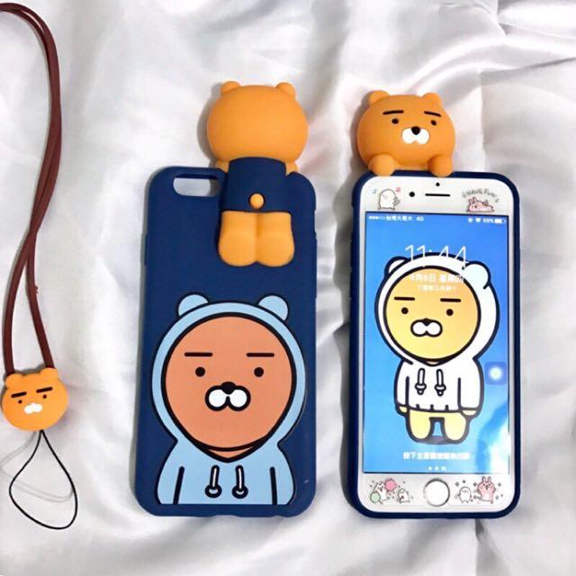 🚀預購🚀韓國萊恩立體手機殼送掛繩