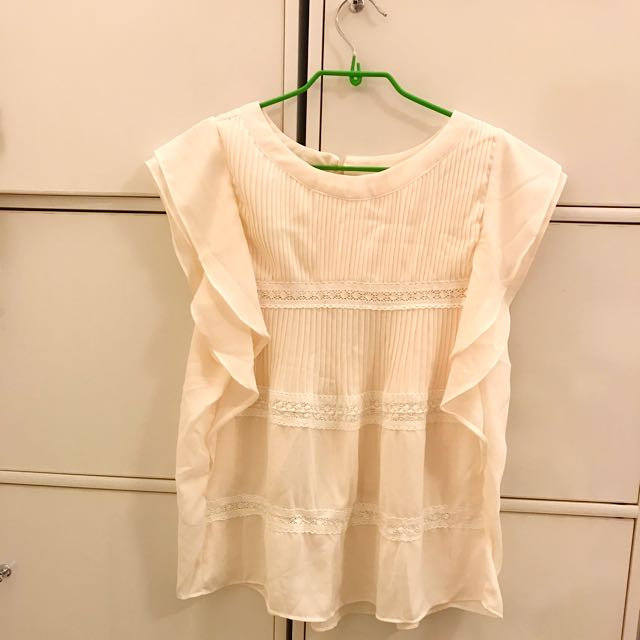 韓版絲質波浪上衣