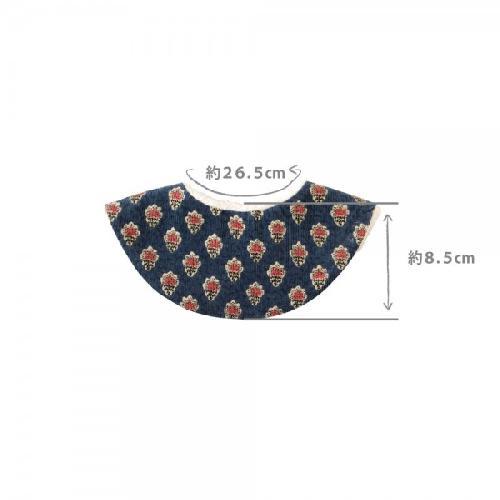 日本直送 Hoppetta SOULEIADO 芙蓉花4-WAY保暖厚領巾 (公主) (寶藍)