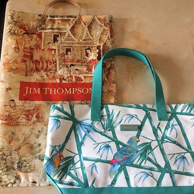 曼谷機場免稅店 Jim Thompson帆布包