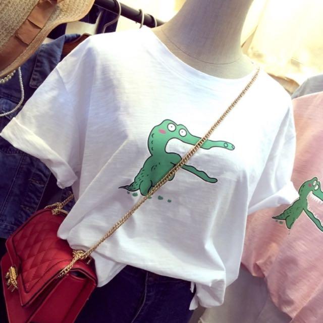 竹節棉 超Q鱷魚短T