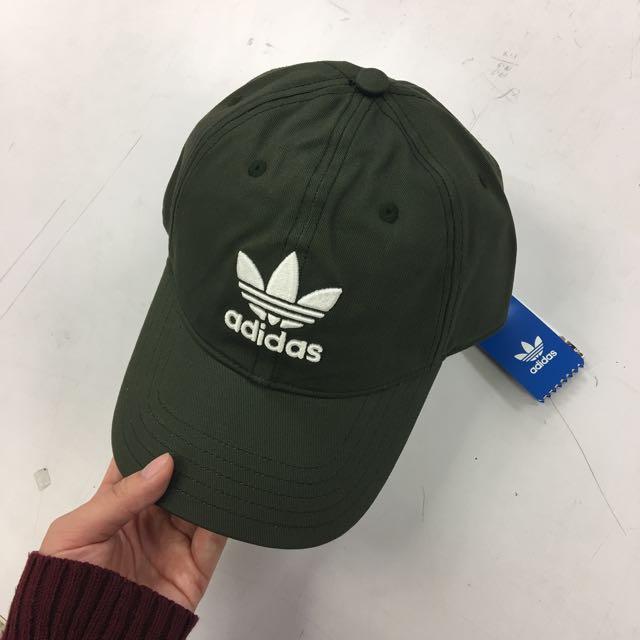Adidas 愛迪達 帽子 老帽 墨綠
