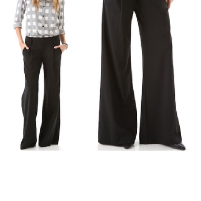 Alice + Olivia silk trousers