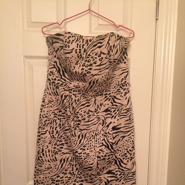 Animal Print Dress H&M