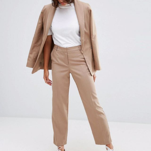 ASOS tapered trouser with piping