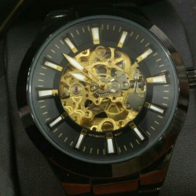 bba709b54d3 AUTHENTIC ENZO GIOMANI (UK) STAINLESS STEEL MEN S SKELETON WATCH ...