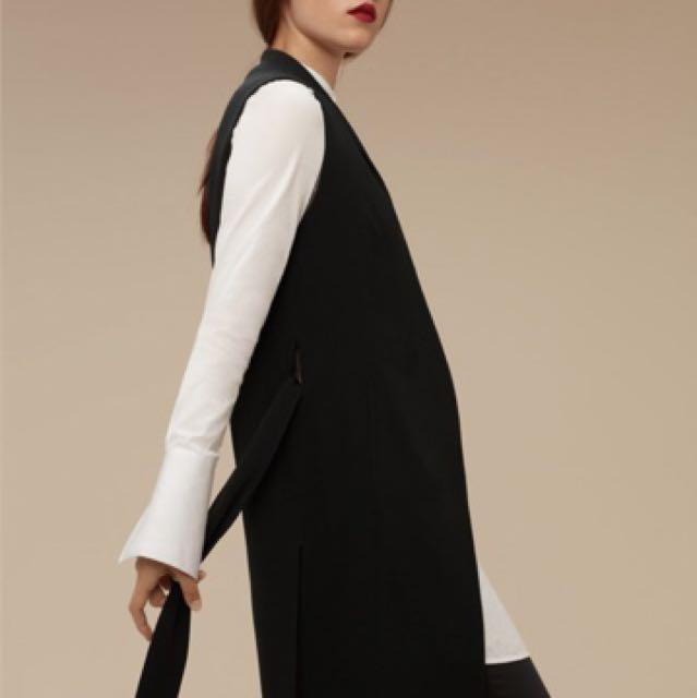 Babaton (aritzia) Black Silk Vest