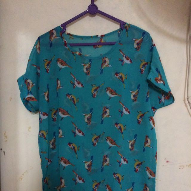 Baju Burung(bahan Sifon)