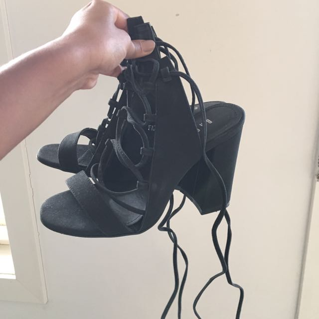 BASEMENT Tie Up Heels Size 36