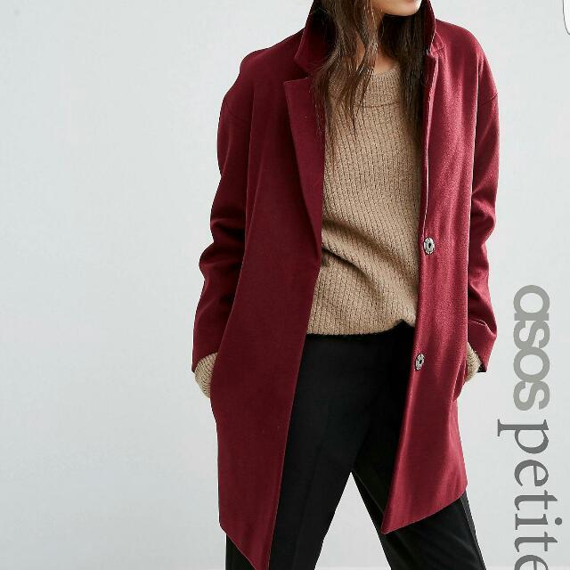 Berry Boyfriend Coat