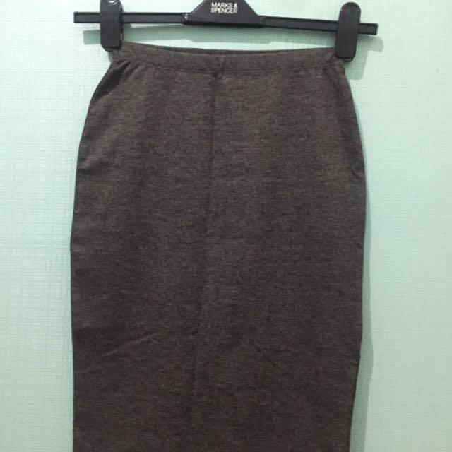 bodycon skirt gray