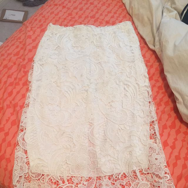 Brand New White Lace Skirt