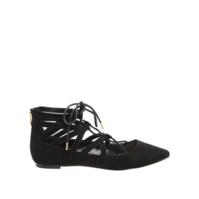 Brand New With Taggs Lace Up Flats