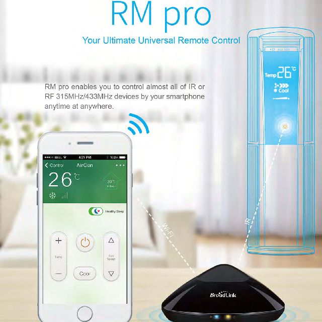 Broadlink RM Pro IoT IR/RF to WiFi Remote Controller for Air