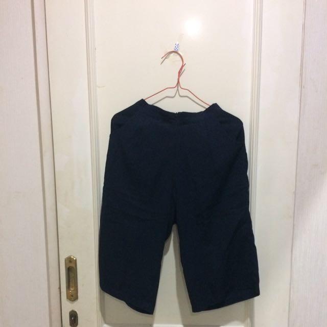 Celana Kulot Navy Blue