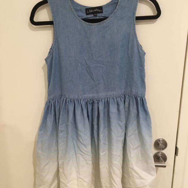 Chambray Babydoll/Smock Dress