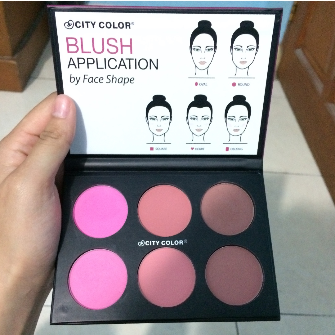 PROMO ONGKIR! city color glow pro blush palette (mate collection)