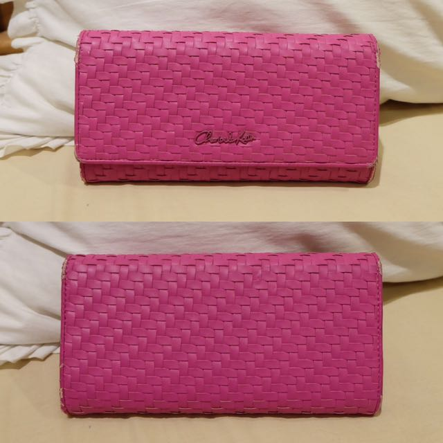 c&k pink wallet
