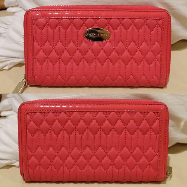 c&k pink wallet zipper