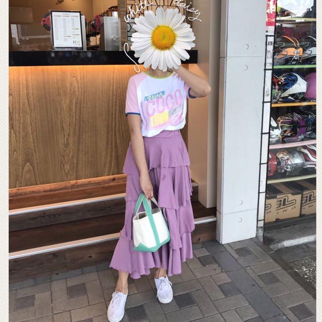 Coco Chanel 刷舊 粉紅色 拼接正韓 T-shirt