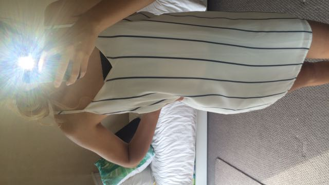 Cotton On White And Blue Striped Dress