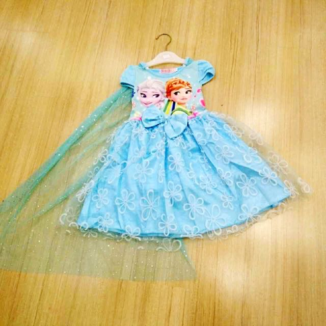 Elsa Dress (removable Cape)