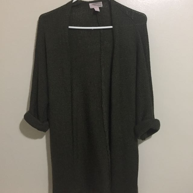 F21 Olive green cardigan