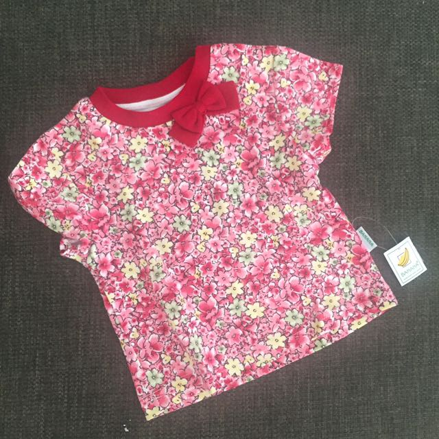 Flowery top red