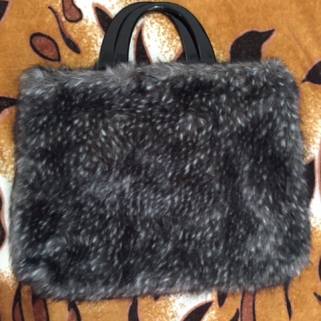 furry handbag Medium size