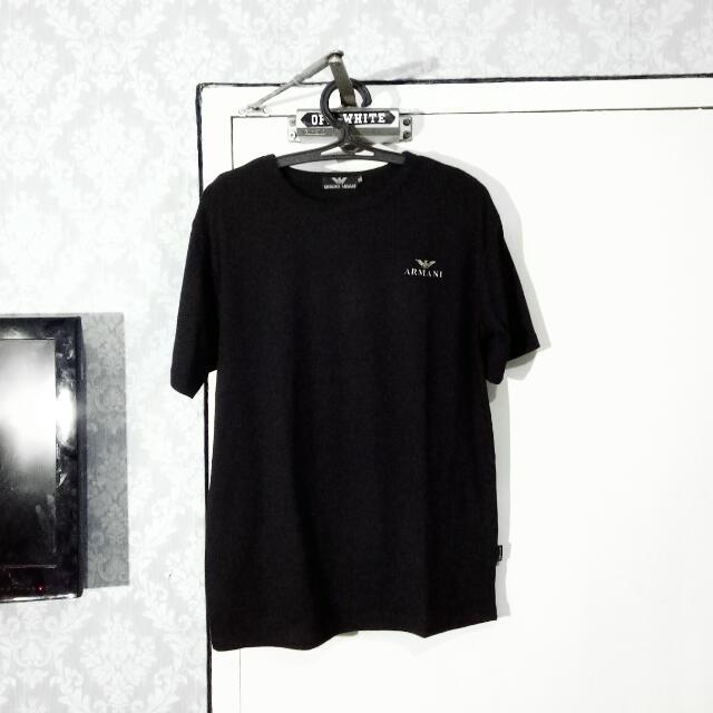 GIORGIO ARMANI Classic Black Logo T-Shirt