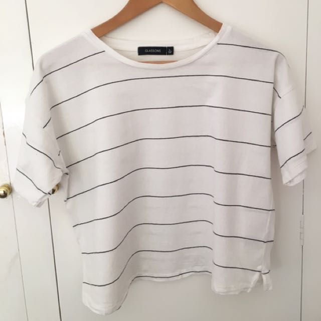 Glassons Striped Crop Top