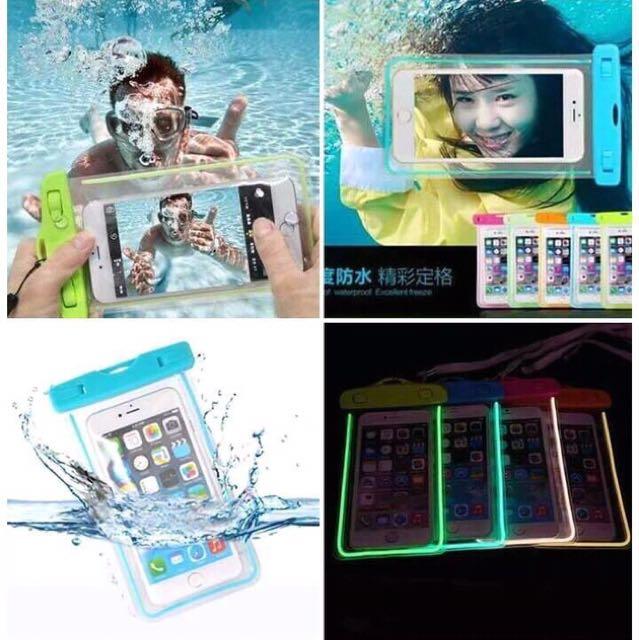GLOW in the DARK waterproof Cellphone pouch