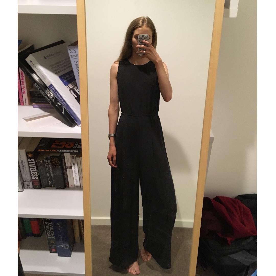 f5703e7af31 Gorman Black Silk Pantsuit Jumpsuit One piece Size 8
