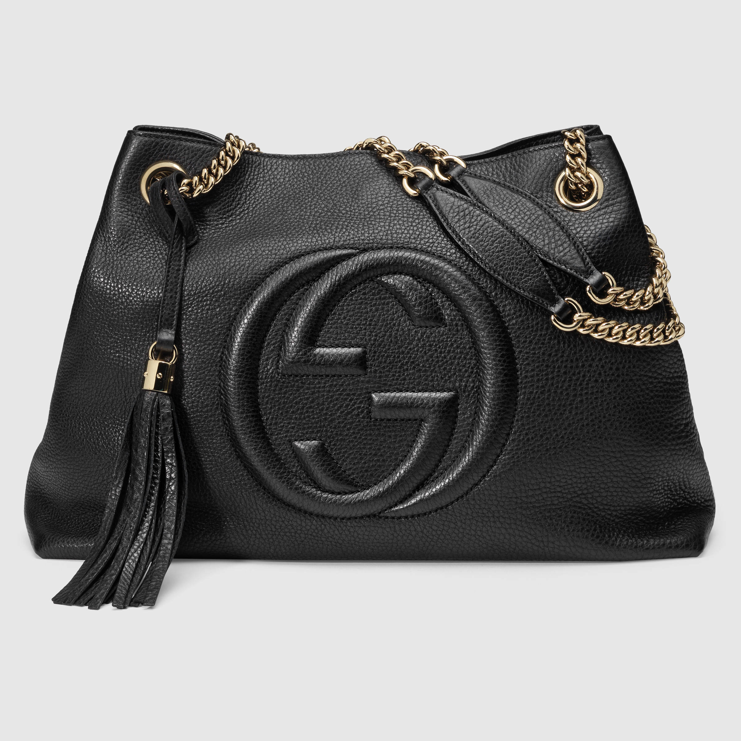 77677c3287af7a Gucci Soho Black Leather Tassel Chain bag, Women's Fashion, Bags & Wallets  on Carousell