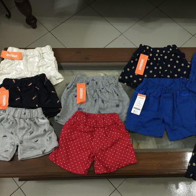 Gymboree Short pants Unisex / Celana Pendek Anak Perempuan & Laki2 Branded