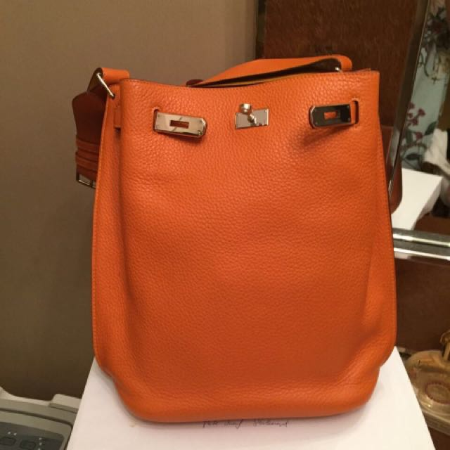 fa7a27302365 Hermes So Kelly 22 Orange Moutarde