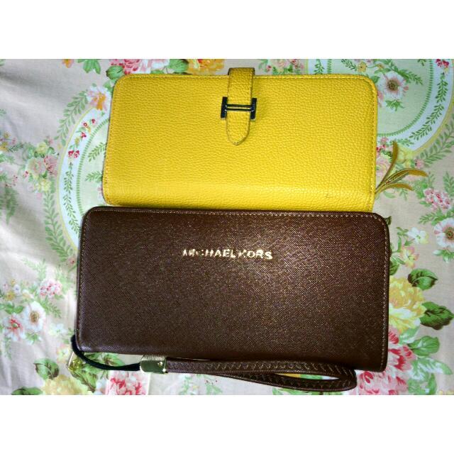 Hermes yellow mustard wallet dompet