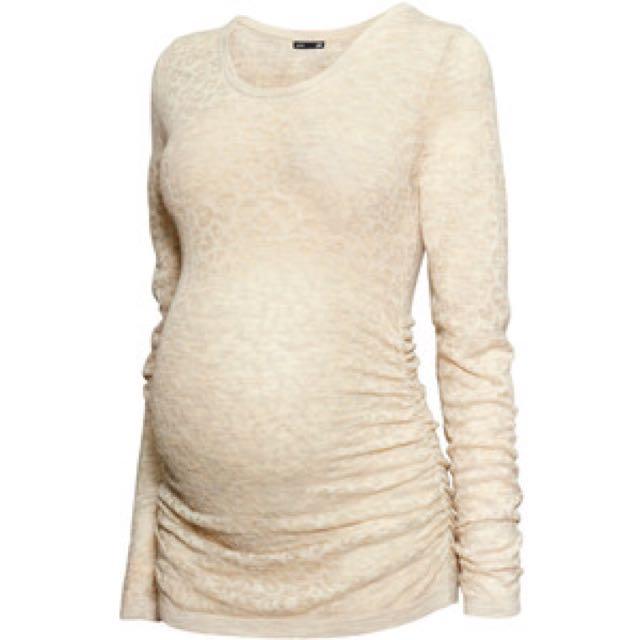 H&M Mama - Beige Fine-Knit Sweater (L)