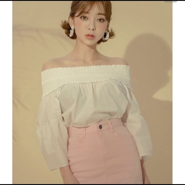 Korean 'Chuu' White Shirt