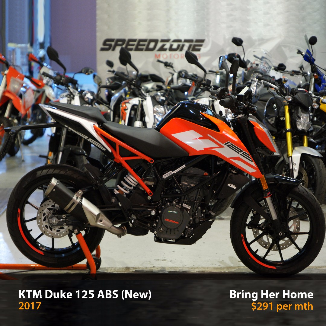 ktm duke 125 abs 2017 new motorbikes on carousell. Black Bedroom Furniture Sets. Home Design Ideas