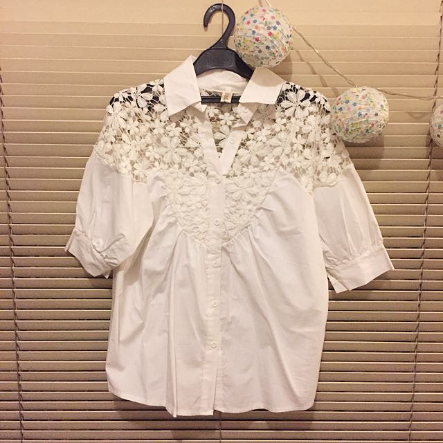 Lace Broidery Shirt