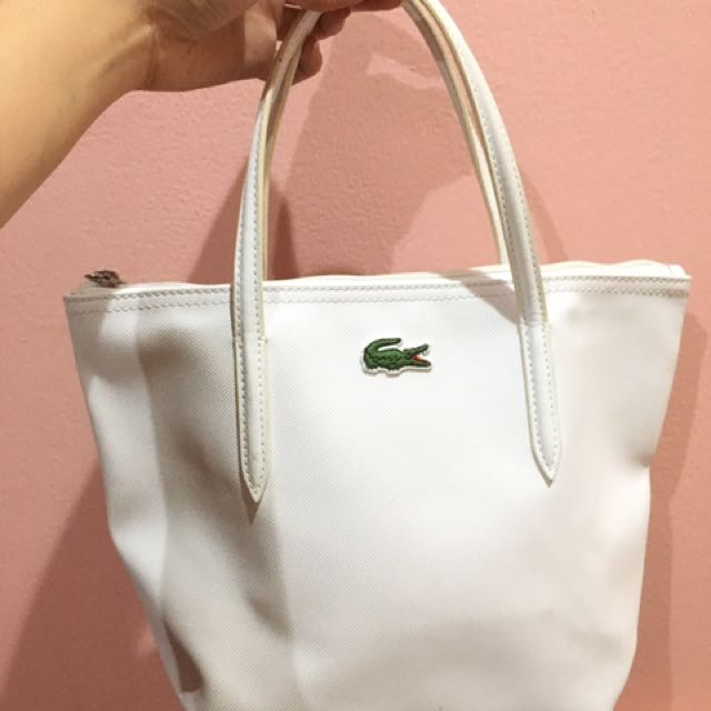 harga harga promo tas wanita lacoste zip tote bag basic mini tali panjang  best seller great 8936e007c5