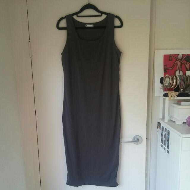 Ladies Stretch Midi Dress
