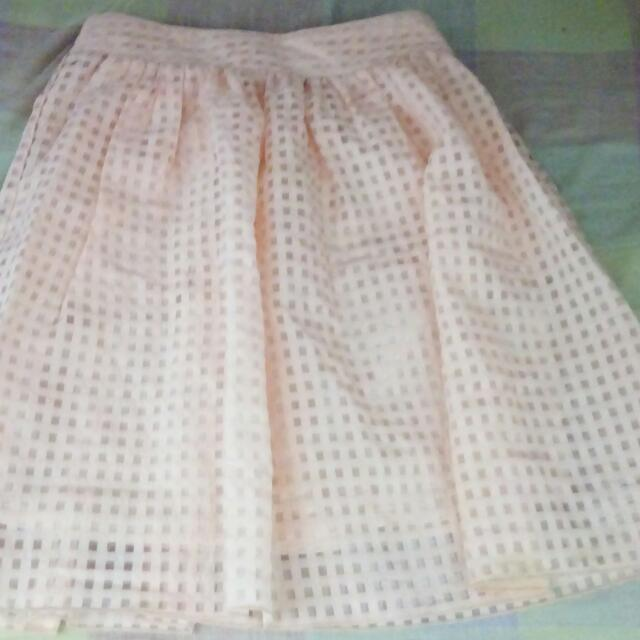 Sale !!! Light Orange Skirt