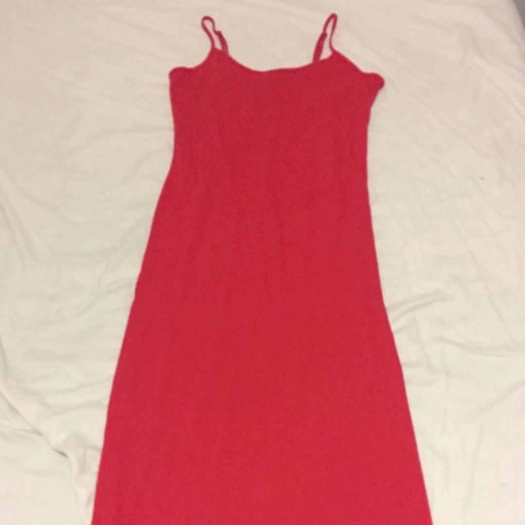 Light Red Maxi Dress