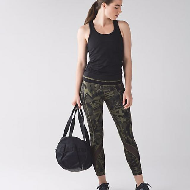 2505a21bba Lululemon Inspire Tight II In Camo Print Size 6, Sports, Sports Apparel on  Carousell